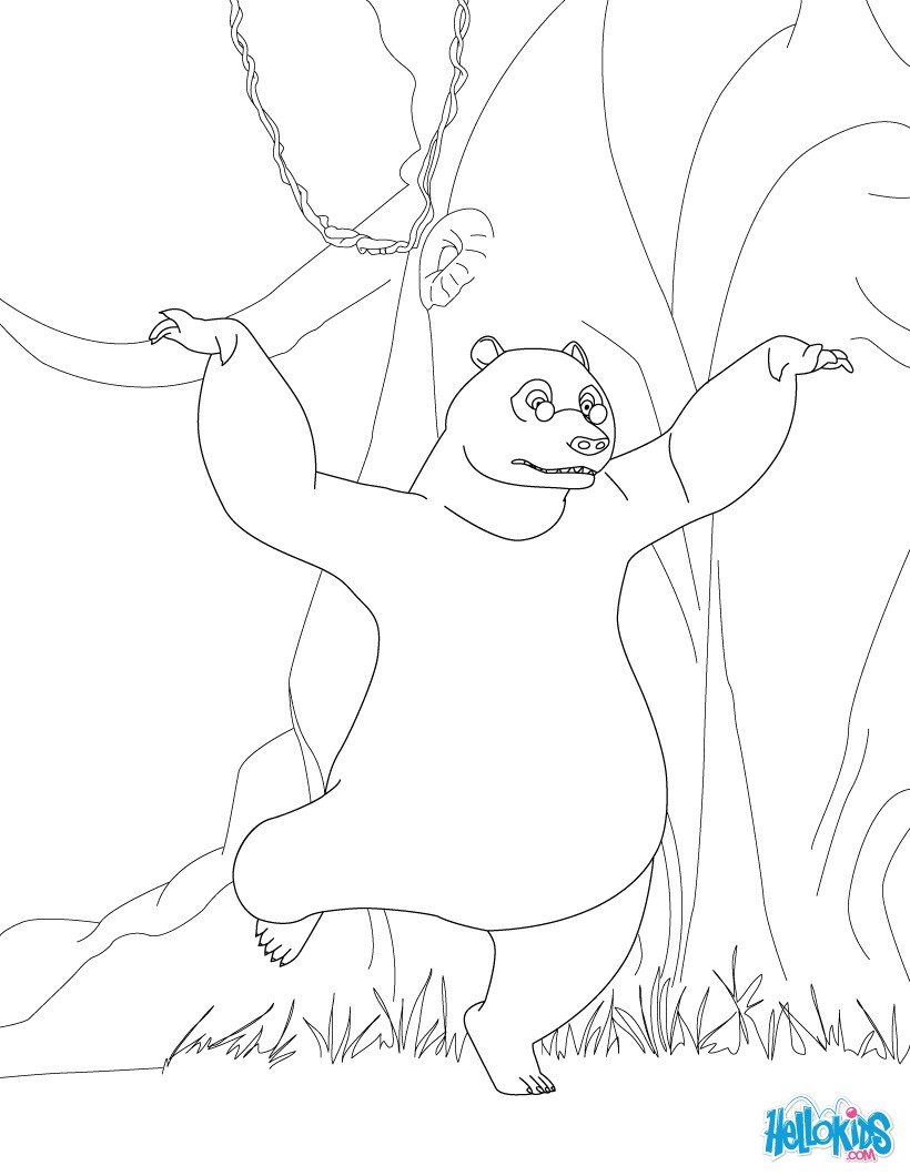 Baloo is dancing coloring pages - Hellokids.com