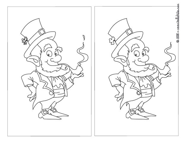 Leprechaun spot the difference game
