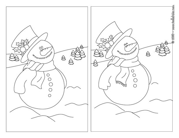 Find the differences online games - Snowman & holly