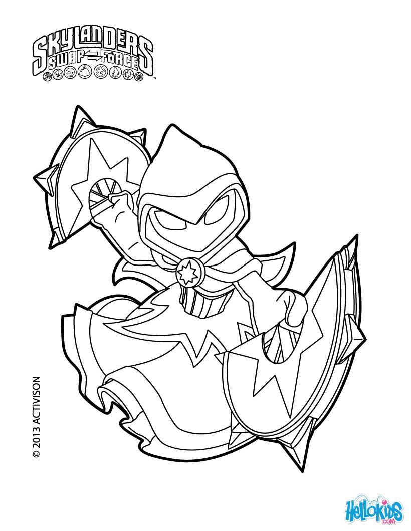 star strike coloring pages okids skylanders - Skylanders Coloring Pages Jet Vac