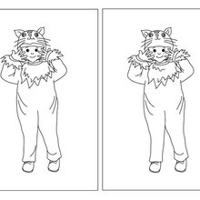 Cat costume difference game