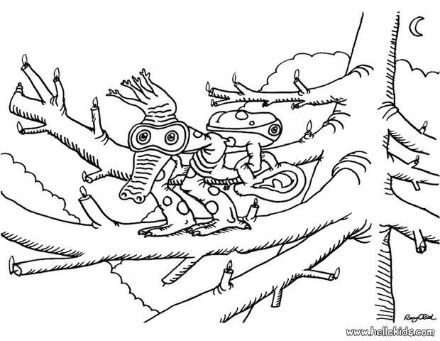 Crocodile monster coloring page