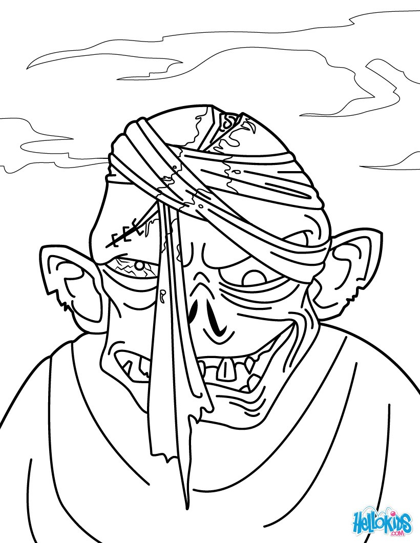 Zombie Coloring Pages Az Sketch Coloring Page