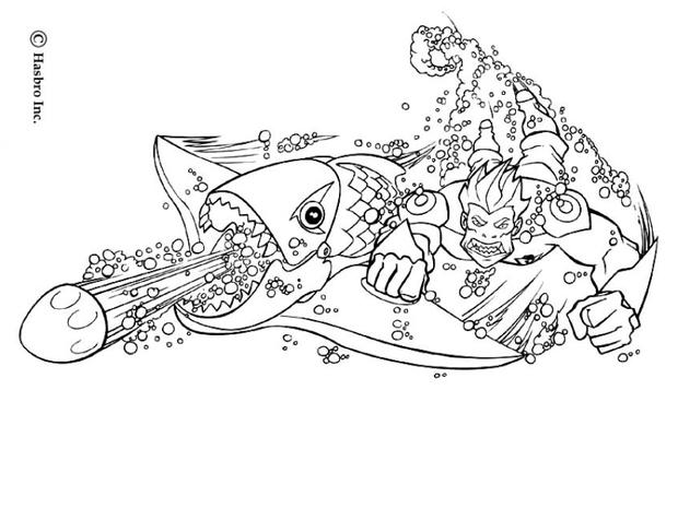Action Man's Fish Weapon coloring page