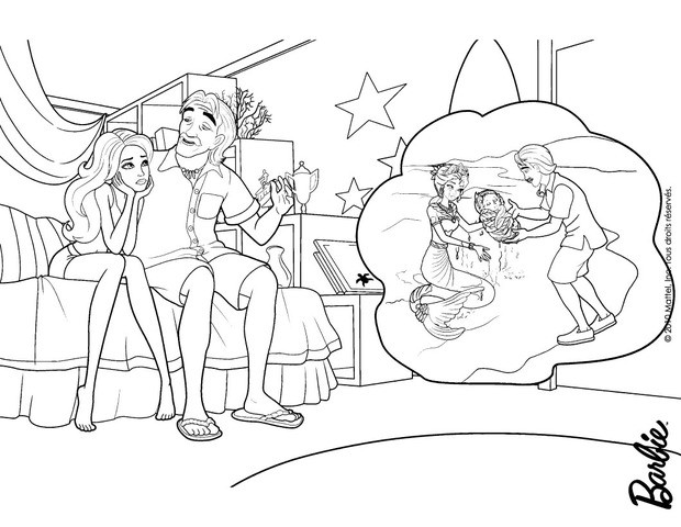 Barbie Merliah Coloring Pages : Break and merliah summers for girl coloring pages
