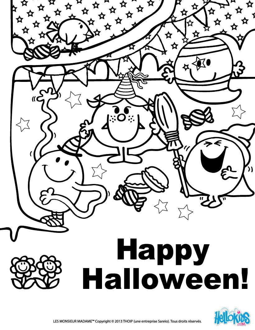 Happy halloween coloring pages - Hellokids.com