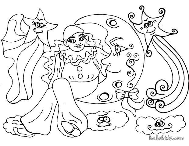 harlequin coloring pages | Harlequin coloring pages - Hellokids.com