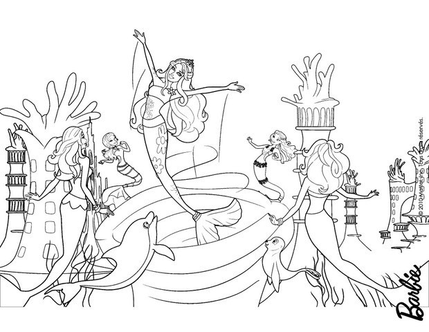 MERLIAH Out Of The Whirlpool Coloring Page