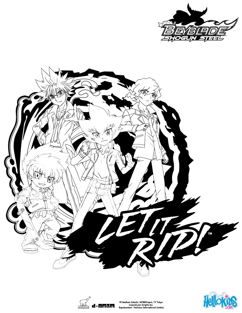 BEYBLADE Group coloring page