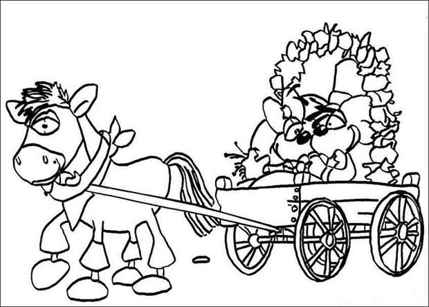 Colouring In Pages Wedding : Diddl wedding coloring pages hellokids.com