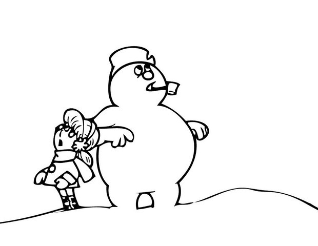 frosty and friends coloring pages