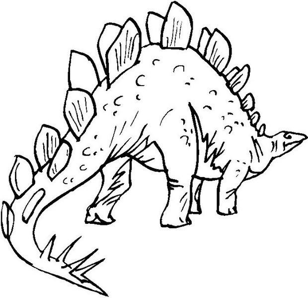 Prehistoric stegosaurus coloring pages Hellokidscom