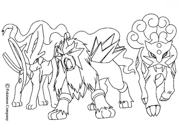 It's just an image of Persnickety Raikou Coloring Page