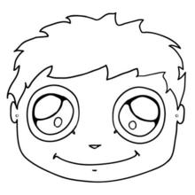 Buddy mask to print and cut out