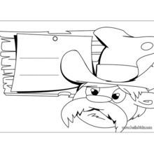 Cowboy door sign