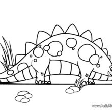 Cute stegosaurus coloring pages Hellokidscom