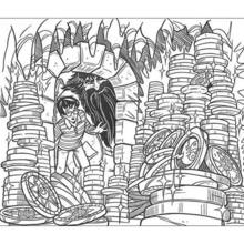 Harry Potter and treasure coloring page