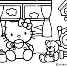 Hello Kitty Coloring Pages 36 Online Toy Dolls Printables For Girls