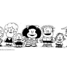Mafalda & friends coloring page