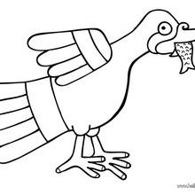 Night Heron coloring page