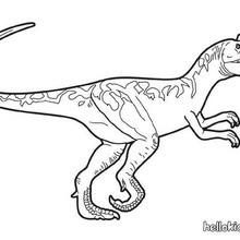 Prehistoric allosaurus coloring page