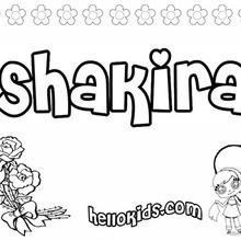 Shakira coloring page