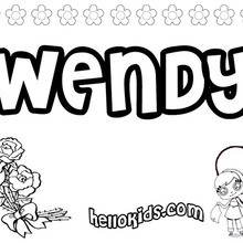 Wendy coloring page