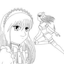 Zakuro Fujiwara coloring page