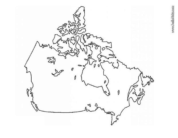 Canada Map Coloring Page Canada map coloring pages   Hellokids.com