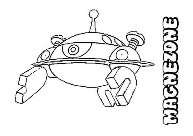 pokemon magneton coloring pages - photo#12