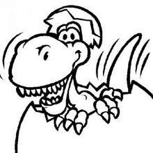 Baby tyrannosaurus coloring page