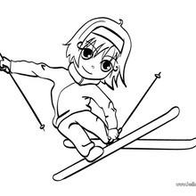 Skiing girl