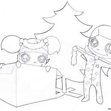 Christmas morning coloring page