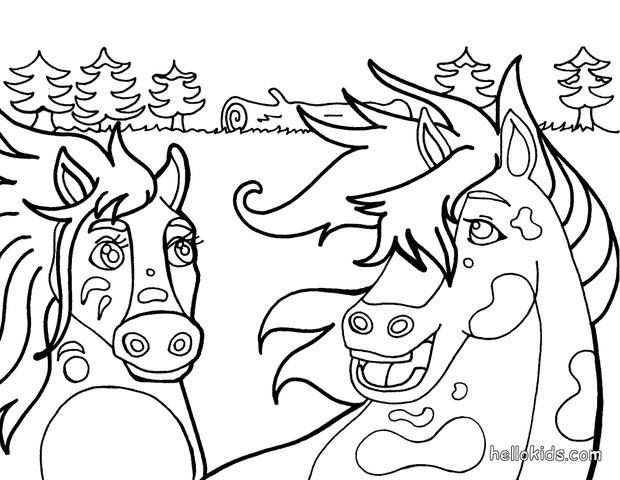 Fantasy Horses Coloring Page