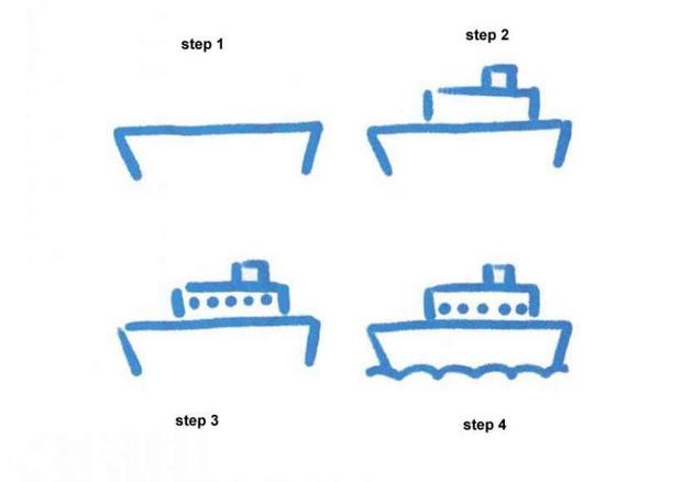 How to draw a steamer drawing lesson