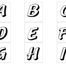Letters A to I worksheet