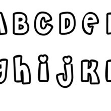 Letters A to L worksheet