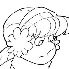 Karen coloring page