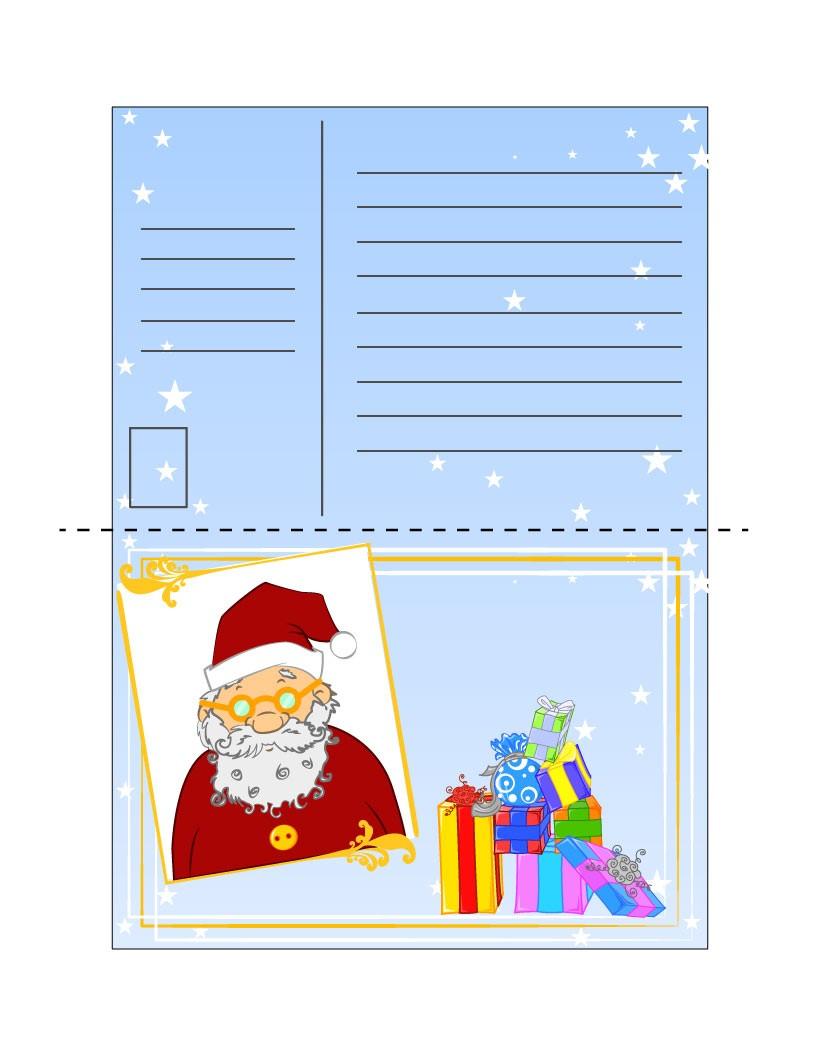 Snowman Design Bold Template Christmas