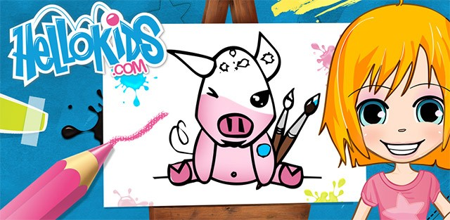 Color and draw app online games - Hellokids.com
