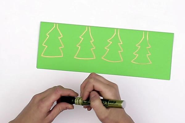 Fabriquer une jolie guirlande de Noël