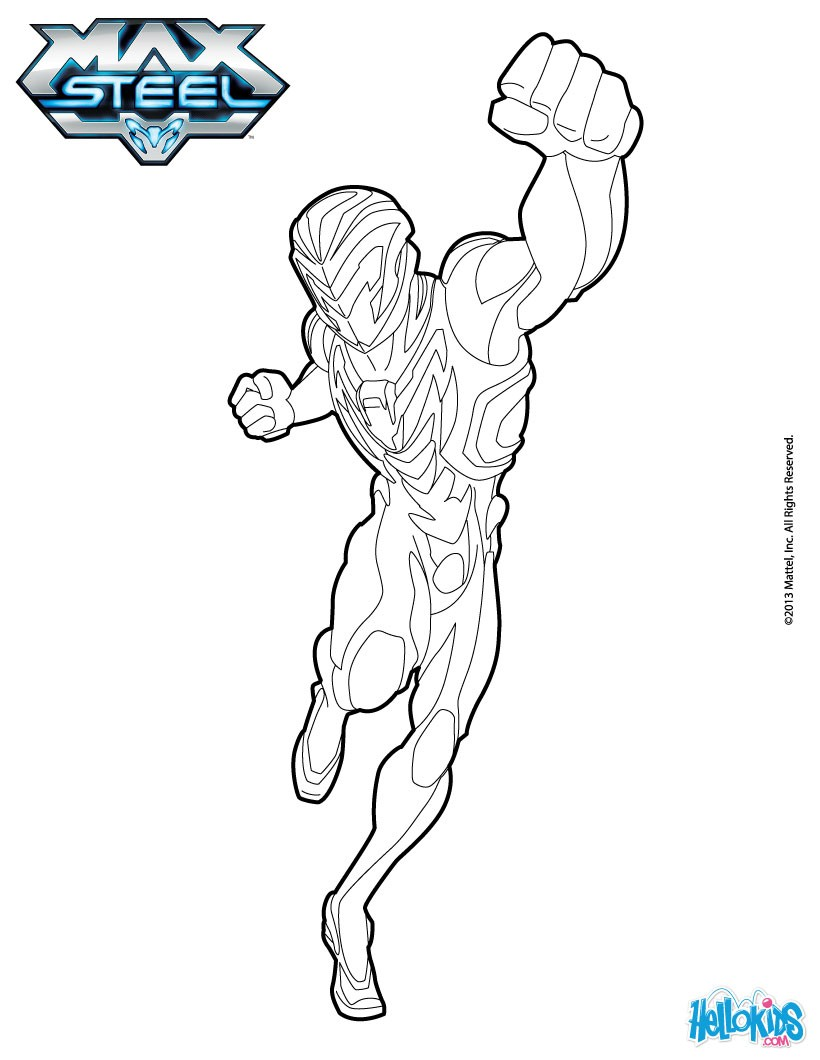 coloring pages max steel - photo#15