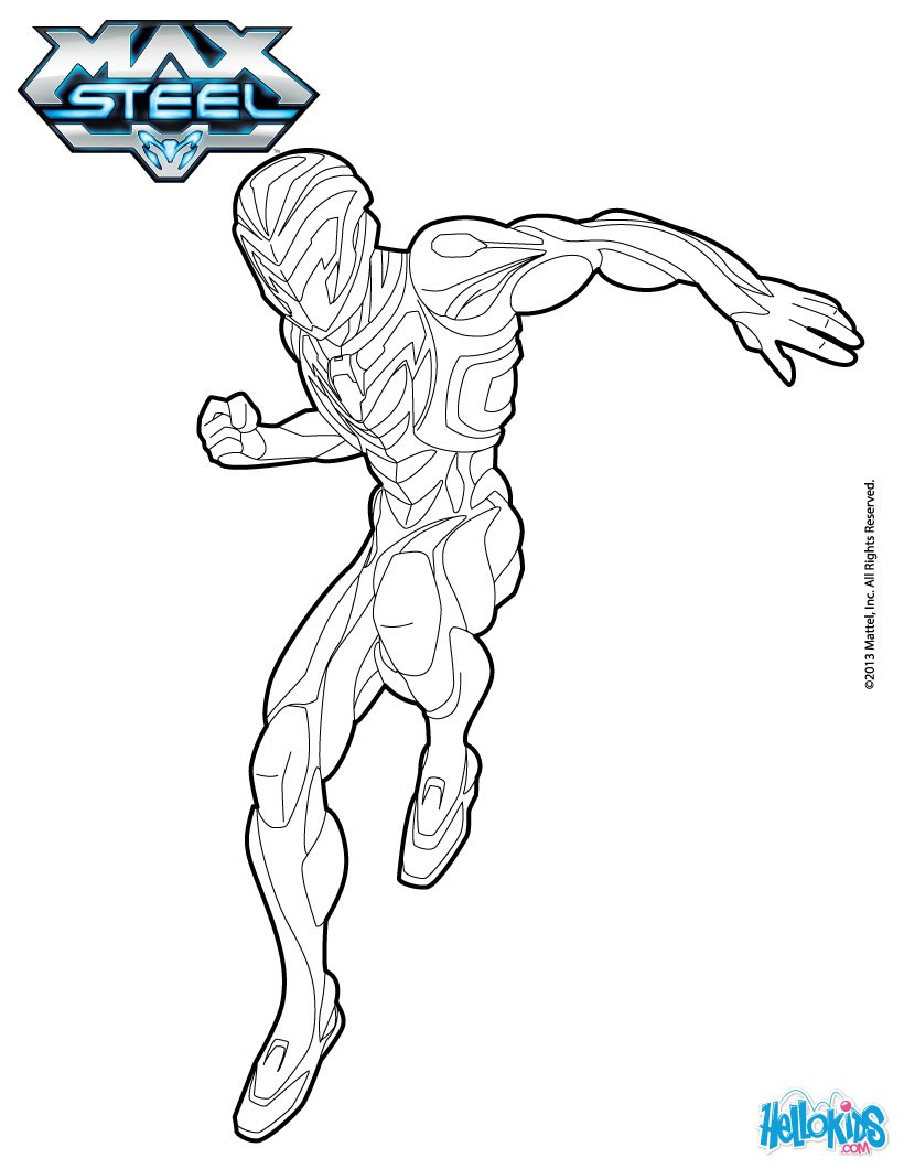 coloring pages max steel - photo#9