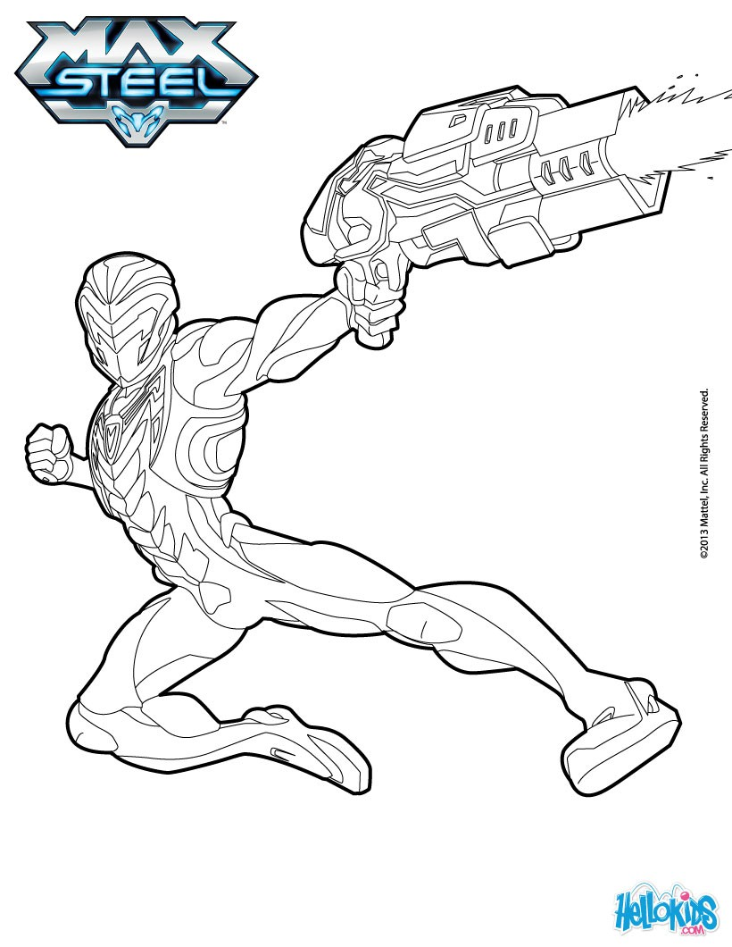 coloring pages max steel - photo#19