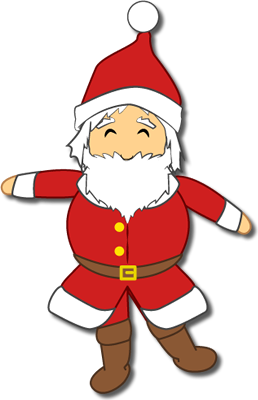 Santa Claus paper puppet