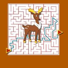 Christmas printable mazes