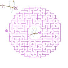 Valentine's Day printable maze