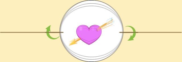 Heart & arrow thaumatrope