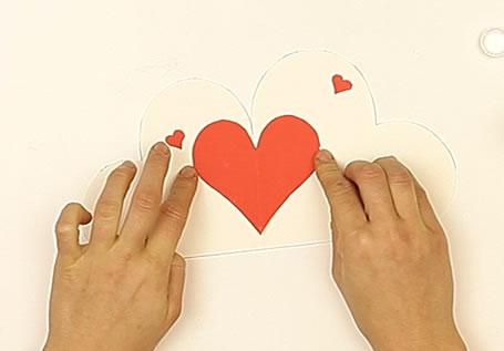 how to craft diy heart pop up card. Black Bedroom Furniture Sets. Home Design Ideas