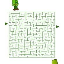 St Patrick's Day printable Maze